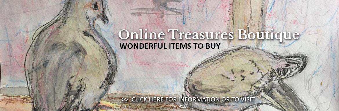 Visit St. Matthews Anglican Church Online Treasures Boutique, where you can purchase unique and interesting gifts,  supporting St. Matthews and the Ottawa Food Bank