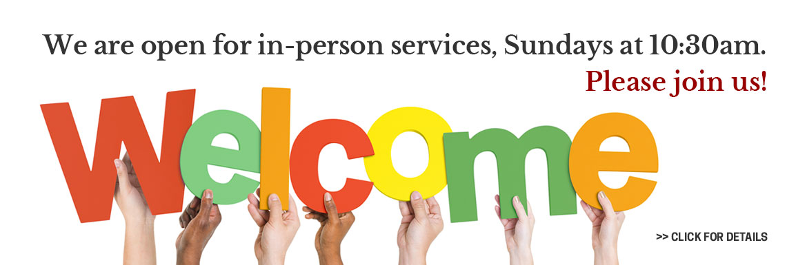 St. Matthew's is holding in-person services. Service time is 10:30 AM. Welcome back! Join